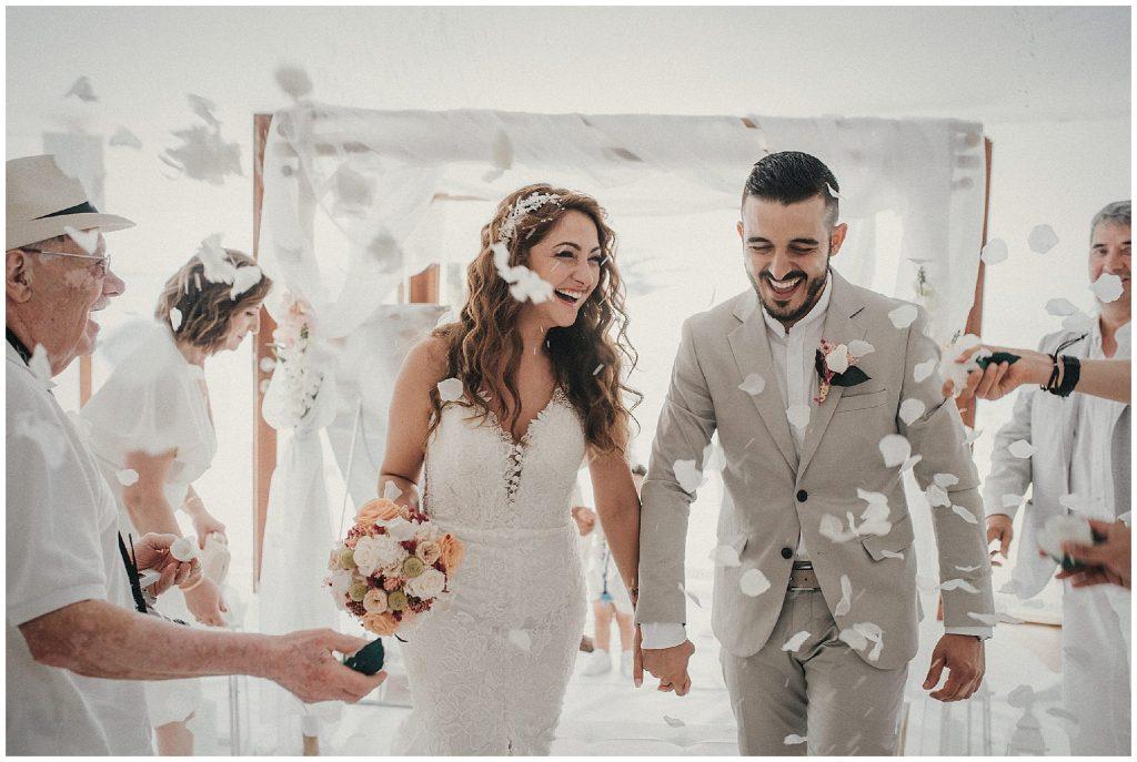 boda ibicenca en Collados Beach