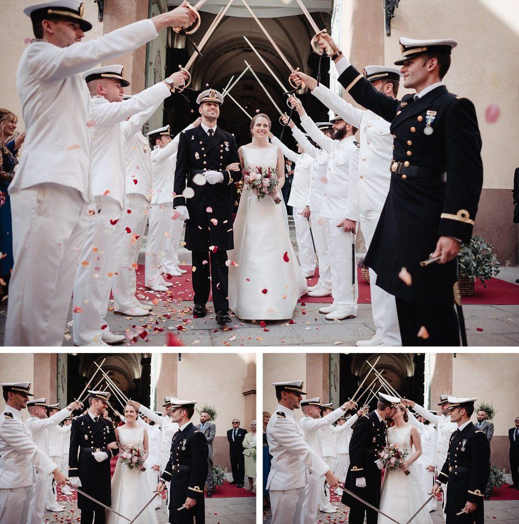 boda militar en Cartagena