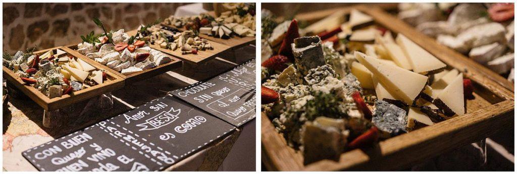 mesa de quesos para boda