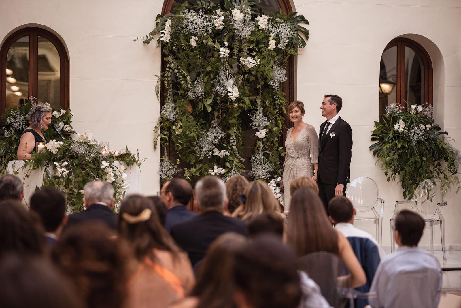 fotografia de boda pareja novios en altar murcia levante