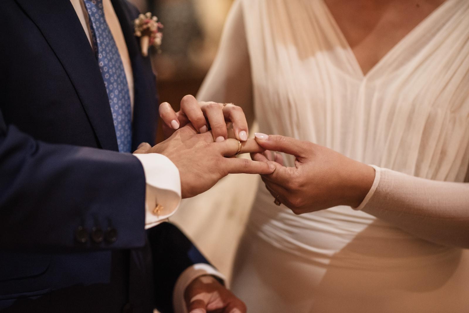 fotografia de boda entrega de anillos murcia levante